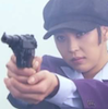 elsane: Cha Song Joo from Capital Scandal unconvincingly crossdressing, with GUN. (bang)