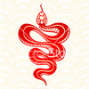 whitelotusmods: a red and white image of a snake (year of the snake)