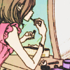 laceblade: Hachi of NANA, applying lipstick (NANA: Hachi makeup)