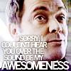 lysanatt: (SPN: Crowley: Can't Hear You Awesome)