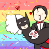 alcesverdes: Batman and Superman at their wedding (Bats/Supes)