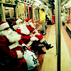 naanima: ([Misc] Santa Clones in Subway)