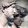 larxene: statues of Hadrian and Antinous in profile (i have moved the firmament for you)