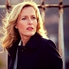 wendelah1: Gillian Anderson wearing a dark raincoat, standing by a rusting iron fence (Agent Gillian Anderson)