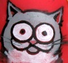 firecat: smiling cartoon cat head (hothead's chicken)