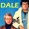 dalegardener: Made from a promotional picture.  Starsky is standing, Hutch is sitting, the text 'Dale' occupies the left-hand space (Dale's S&H)