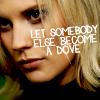 "strina: sarah corvus caption ""let somebody else become a dove"" (bionic - dove)"