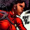muccamukk: Misty running hard. Text: Got to Go (Marvel: Got to Go)