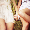 jenwryn: Two girls holding hands, in summery weather. (misc • girls; holding hands)