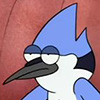 buzzy: Mordecai from Regular Show looking particularly uninterested and distracted (Mordecai 1)