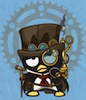 firecat: badtz maru wearing tophat and goggles (steampunk badtz maru)