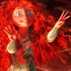 poisontaster: Image of Merida from Brave, hands upraised (Brave-Inspiration Strikes)