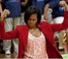 fullygoldy: Michelle Obama flexing biceps (Flotus is Awesome)