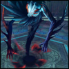 bodymod: Lambda: monster form (a large creature with no legs and oversized spiked arms, spiky feathers, and a masklike face) (monster: the scope of)