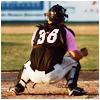 highlander_ii: Mesoraco in catcher's stance ([baseball] Mesoraco - catcher stance)