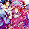 laceblade: from the anime: Juliet with sword, Romeo with flower, both facing each other with love (Romeo x Juliet)
