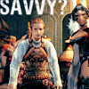 "laceblade: Balthier & Fran of FF12, looking badass. Text: ""SAVVY?"" (FFXII: Balthier & Fran)"
