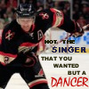 "kinetikatrue: picture of Duncan Keith skating paired with the MCR lyric ""Not the singer that you wanted, but a dancer"" (Not the singer)"