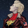 thebratqueen: Captain Marvel (reading)