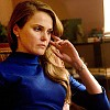 next_to_normal: Elizabeth in blue, looking off to the side (Elizabeth (Americans))