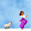 sirenspell: (Djali ✠ a girl and her goat)