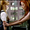 ghost_lingering: Weaver gets down to Savannah's level and looks her in the eyes (daughters of robots)