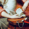 altopiano: 18C lady with novel (lady with novel)
