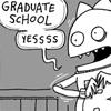 glaukopis: Cat and Girl: graduate school (gradschool)