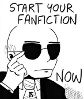 "seventhbard: Skinner from XFiles putting on sunglasses, text reads ""Start your fanfiction NOW"" (XFic)"