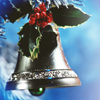 sashajwolf: photo of a bell with holly at the top (advent)