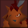 kjorteo: Portrait of the low-res overworld model of Red XIII from Final Fantasy VII, looking grumpy. (Sigh.)
