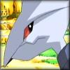 kjorteo: Screenshot of a grumpy-looking Skarmory from a Pokémon anime special. (Skarmory: Hmph.)