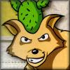 kjorteo: Portrait of the Cactus Wolf from Mother 3, smirking. (Cactus Wolf)