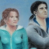 stephaniedraws: Hermione Granger and Severus Snape fanart (fanart)