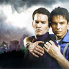 bethmccombs: Jack & Ianto embracing in front of the Cardiff skyline (Torchwood - Jack & Ianto - Cardiff)