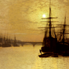 gairid: Art  by J A Grimshaw (Art - Grimshaw - Ships on Thames)