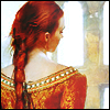 lunadelcorvo: (Red Braid Gold Dress) (Default)