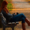 lunadelcorvo: (Redhead on park bench)