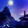 kaffyr: Fantasia - night and the profile of a hill (Dark and lovely)