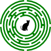 zlabya: A round maze, with a cat in the middle. (CatMaze)
