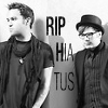 anotherslashfan: black&white photo of patrick and pete from fall out boy, caption: rip hiatus (fob rip hiatus)