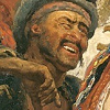 cockothenorth: guy from a painting, doing gangsta sign and winking (WINK)