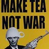 yaspis: Make tea, not war! A soldier with a tea cup for a helmet. (make tea not war)