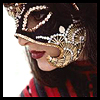 esther_asphodel: close up of woman in red and gold mask (Default)
