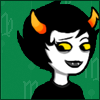 gloss: undead troll girl looks abashed (HS: Kanaya embarrassed)