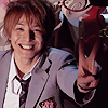 yukihana: Nakatsu happily showing a peace sign (genki, happy)
