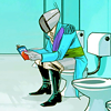 goodbyebird: Saga: Prince Robot IV reads a novel while on the can. (C ∞ brb reading interspecies fluffporn)