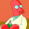 rooibos: The amazing Dr. Zoidberg from Futurama knitting! (Knitting: Zoidberg)