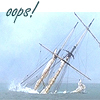 sharpiefan: Tall ship sinking, text 'oops!' (Oops)