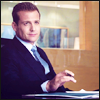 highlander_ii: Harvey Specter sitting at a conference table flipping a pen between his fingers (static image) ([Harvey] pen spinning)